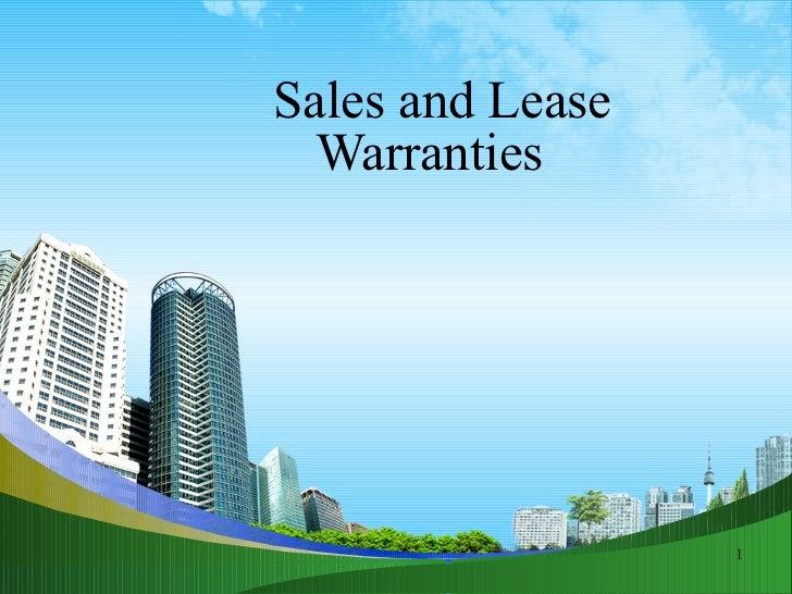 Contract  & warranties