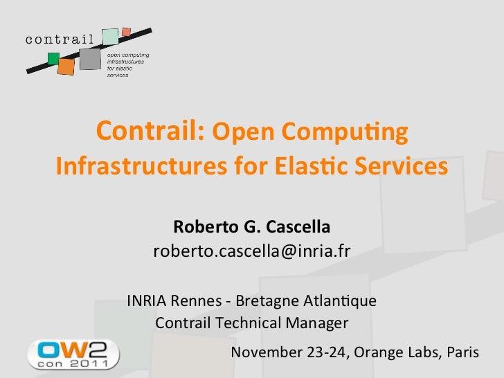 Contrail Project, OW2con11, Nov 24-25, Paris