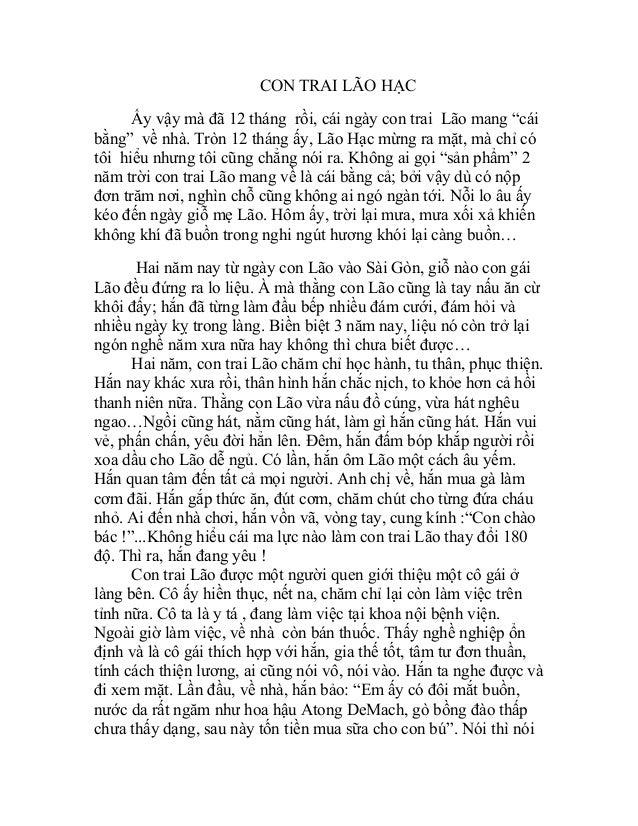 """CON TRAI LÃO HẠC Ấy vậy mà đã 12 tháng rồi, cái ngày con trai Lão mang """"cái bằng"""" về nhà. Tròn 12 tháng ấy, Lão Hạc mừng r..."""