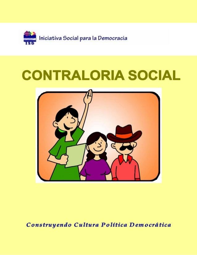 C o nteni d oCONTRALORIA SOCIAL                                                        Presentación                       ...