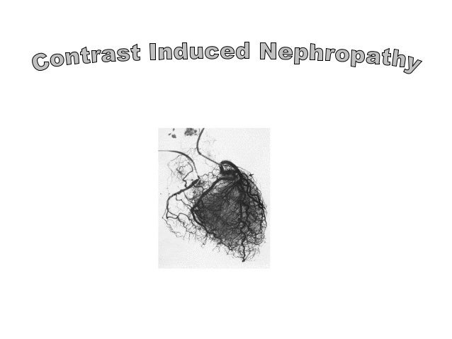 Contrast nephropahthy