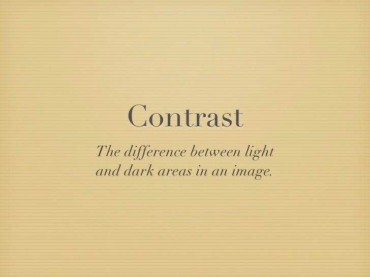 Photographic Contrast
