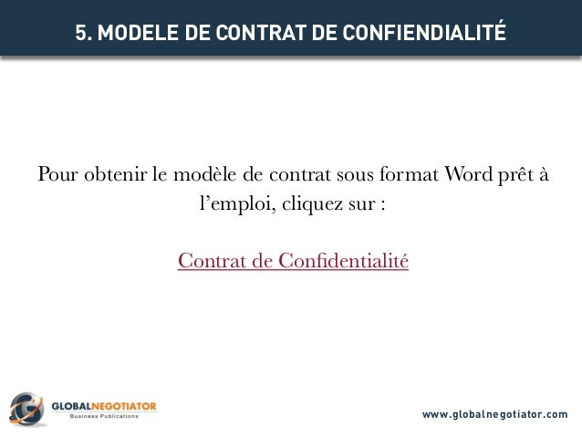 Contrat de confidentialite mod le de contrat et exemple for Chambre de commerce internationale arbitrage
