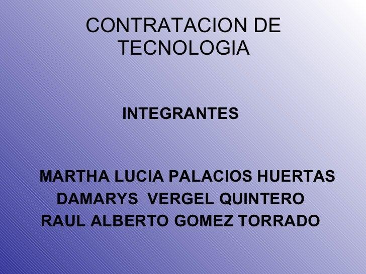 Contratacion de tecnologia