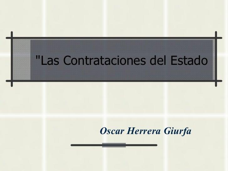 Contrataciones del estado 1