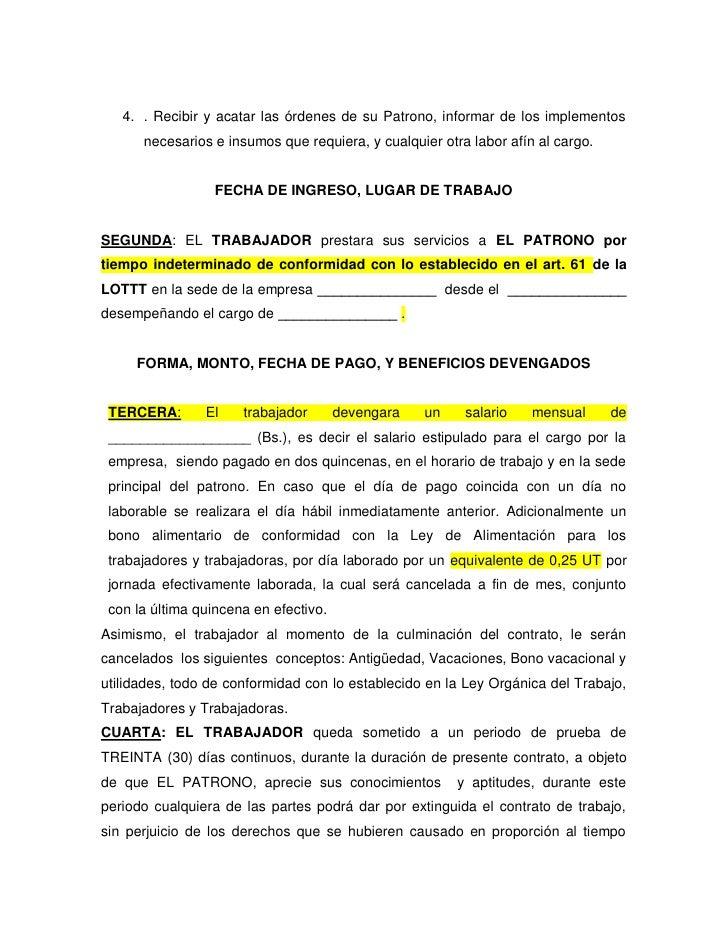Contrato a tiempo indeterminado for Contrato laboral para empleadas domesticas