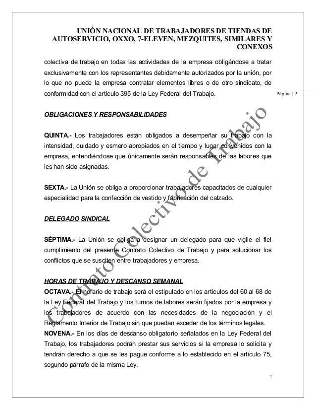 Contrato colectivo de trabajo oscar for Formato de contrato de trabajo indefinido