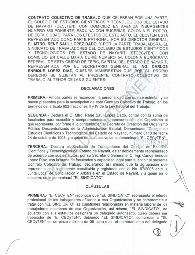 Pin formato de contrato colectivo trabajo on pinterest Contrato trabajo