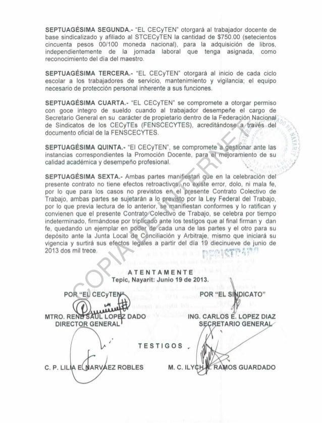 Contrato colectivo de trabajo 2013 2015 for Contrato trabajo