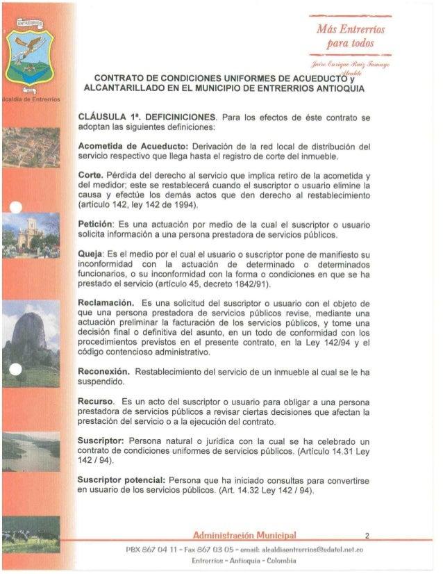 a ENTR' RRIDS D  Más Entrerríos para todos  —— 1711131. ¡(w ¡ví/ rre 43m)' #170110':   CONTRATO DE CONDICIONES UNIFORMES D...