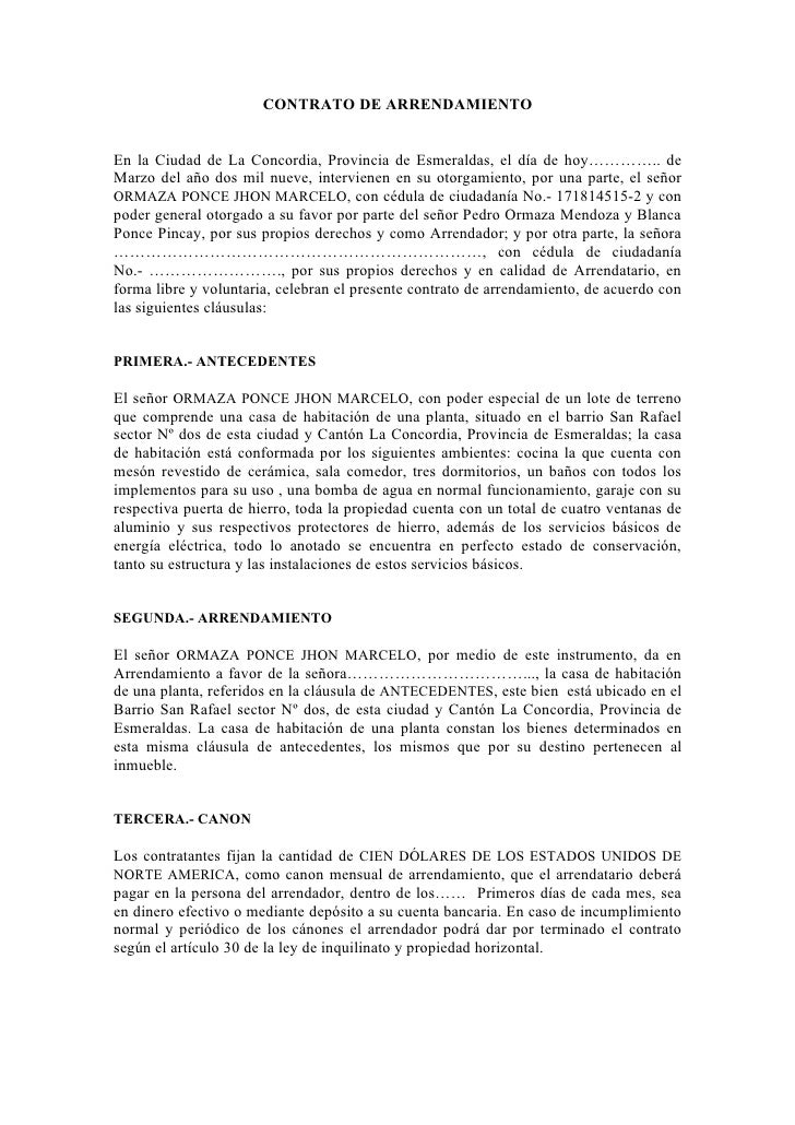 Formato de contrato de arrendamiento en puebla new style for Arrendamiento bienes muebles
