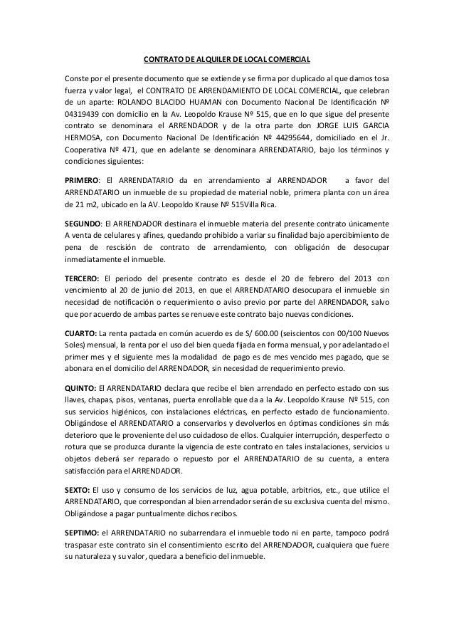 Formato Contrato De Arrendamiento Espaciobr Casas En