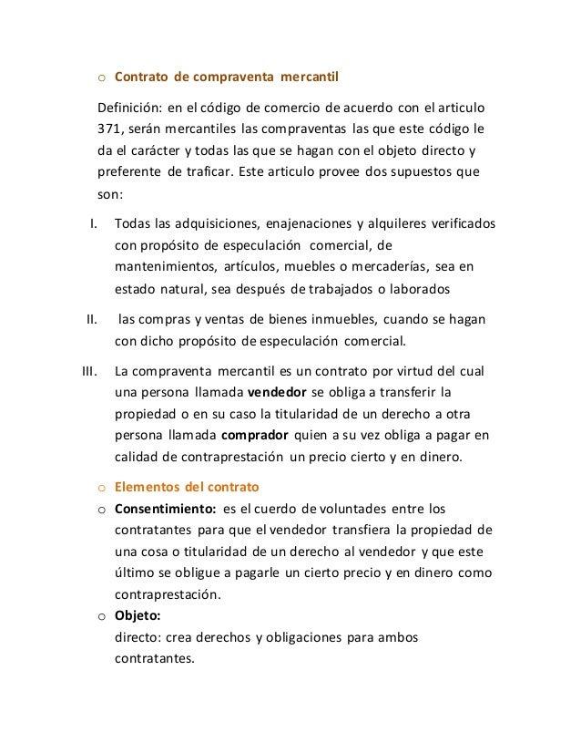 Contrato De Compraventa Mercantil 1