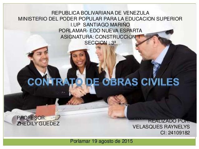 REPUBLICA BOLIVARIANA DE VENEZULA MINISTERIO DEL PODER POPULAR PARA LA EDUCACION SUPERIOR I.UP SANTIAGO MARIÑO PORLAMAR- E...