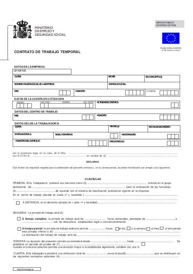 contrato de trabajo temporal