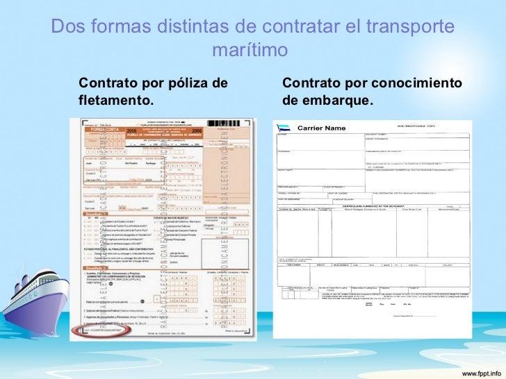 Contrato de transporte maritimo Clausula suelo definicion
