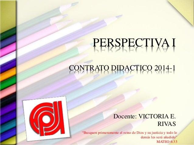 Contrato perspectiva I 2013 2