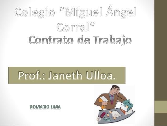 Contratos de Trabajo Jurídicamente,Lacontrataciónlaboral difieredelacontratacióncivil En Ecuador, existen básicamente dos ...