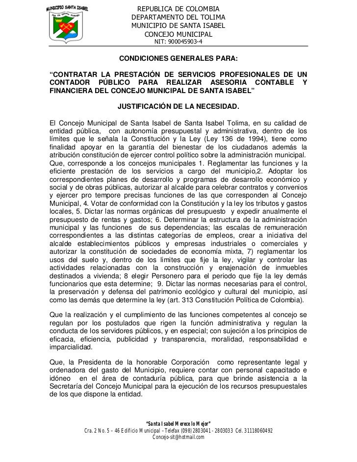 REPUBLICA DE COLOMBIA                                DEPARTAMENTO DEL TOLIMA                                MUNICIPIO DE S...
