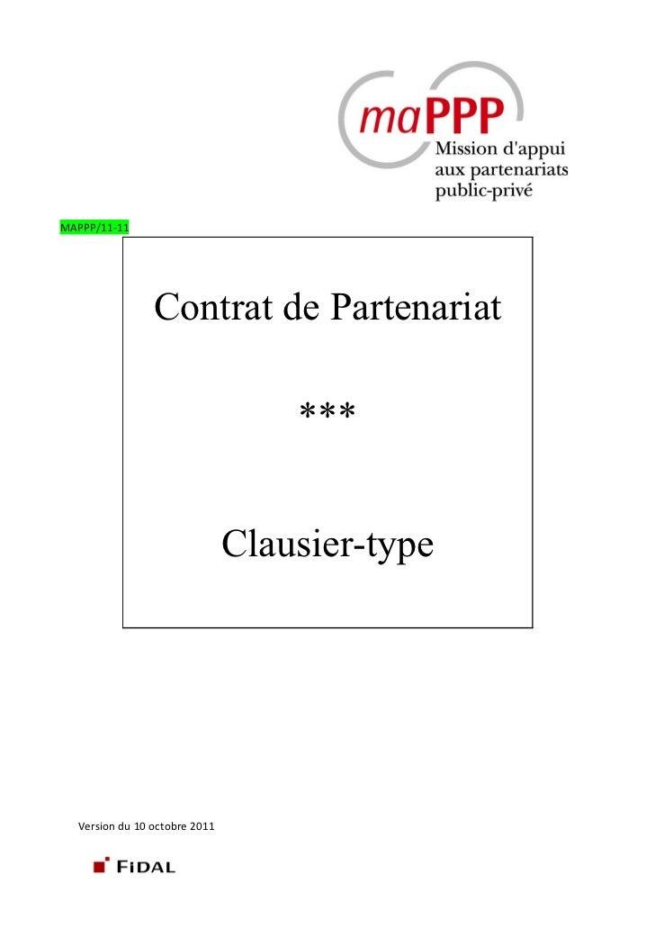 Contrat partenariat clausier type mappp