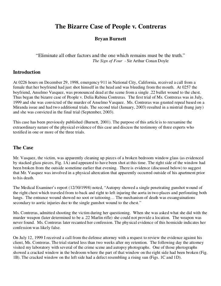 1                        The Bizarre Case of People v. Contreras                                                Bryan Burn...