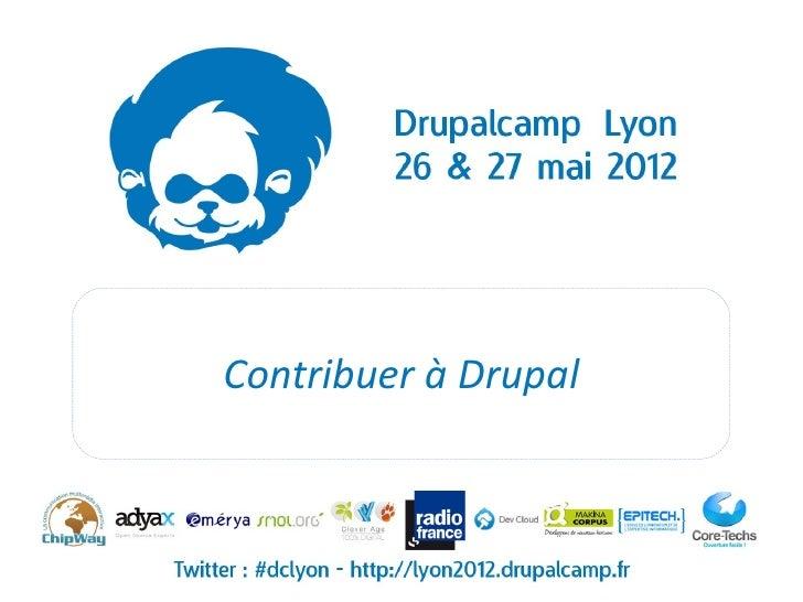 Contribuer à Drupal