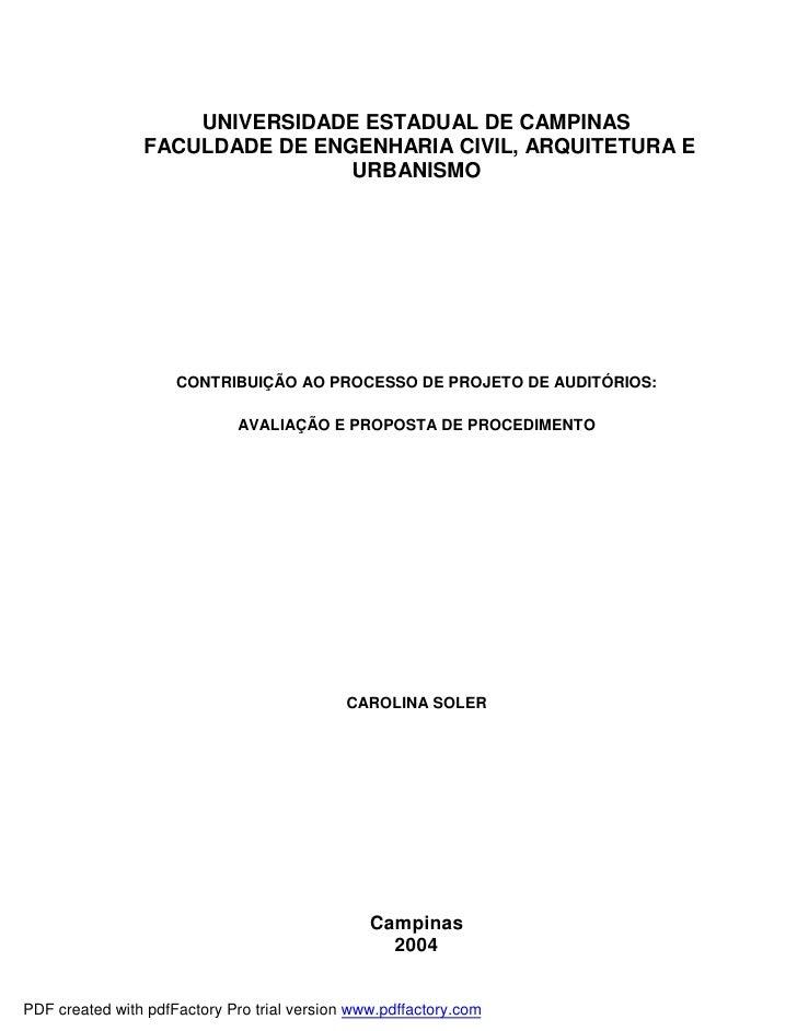 UNIVERSIDADE ESTADUAL DE CAMPINAS                FACULDADE DE ENGENHARIA CIVIL, ARQUITETURA E                             ...