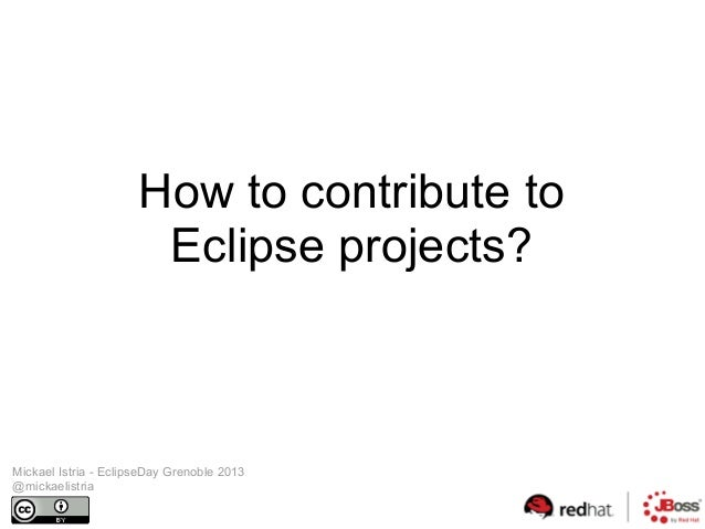 Contribute to Eclipse projects