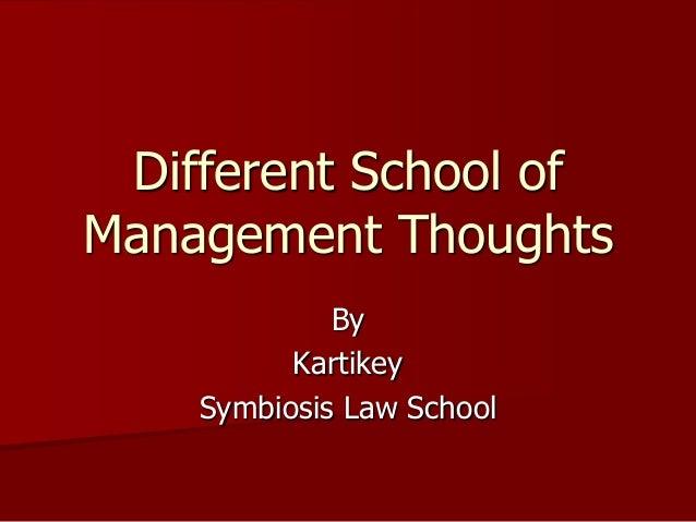 Schools of Business Management