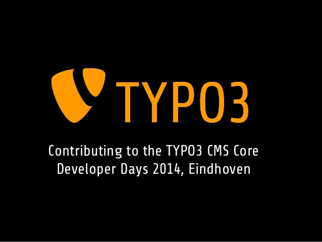 Contribute to TYPO3 CMS