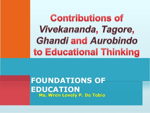 Contributions to educational thinking
