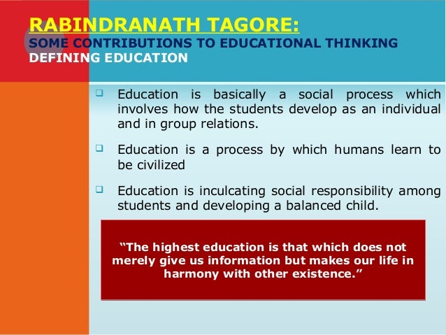Contribution of R.N. Tagore (1861-1941)