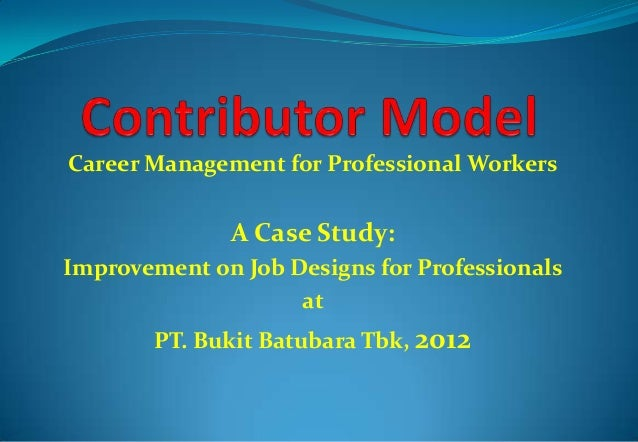 Career Management for Professional Workers  A Case Study: Improvement on Job Designs for Professionals at PT. Bukit Batuba...