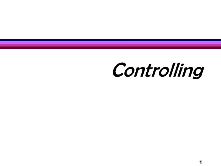 Controlling<br />1<br />