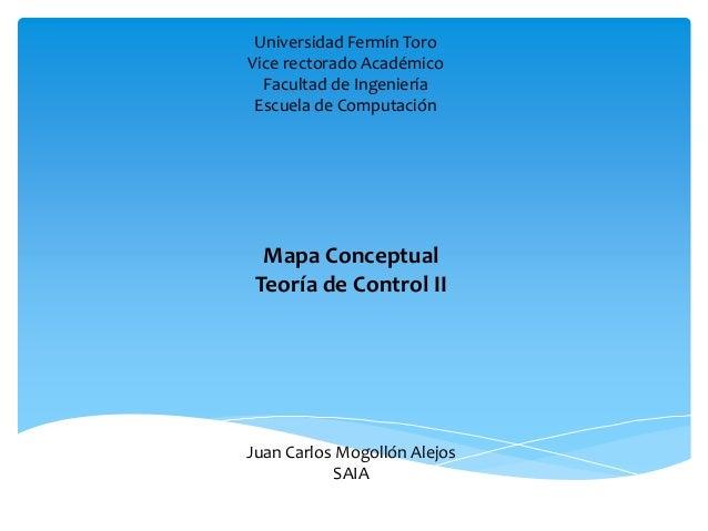Universidad Fermín Toro  Vice rectorado Académico  Facultad de Ingeniería  Escuela de Computación  Mapa Conceptual  Teoría...