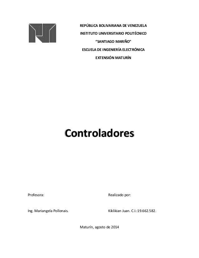 """REPÚBLICA BOLIVARIANA DE VENEZUELA INSTITUTO UNIVERSITARIO POLITÉCNICO """"SANTIAGO MARIÑO"""" ESCUELA DE INGENIERÍA ELECTRÓNICA..."""