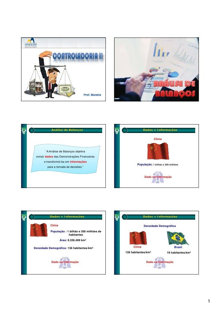 Análise de Balanços                                 Dados × Informações                                                   ...