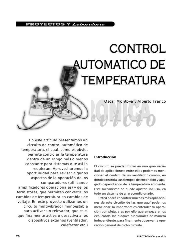 CONTROL                                 AUTOMATICO DE                                  TEMPERATURA                        ...