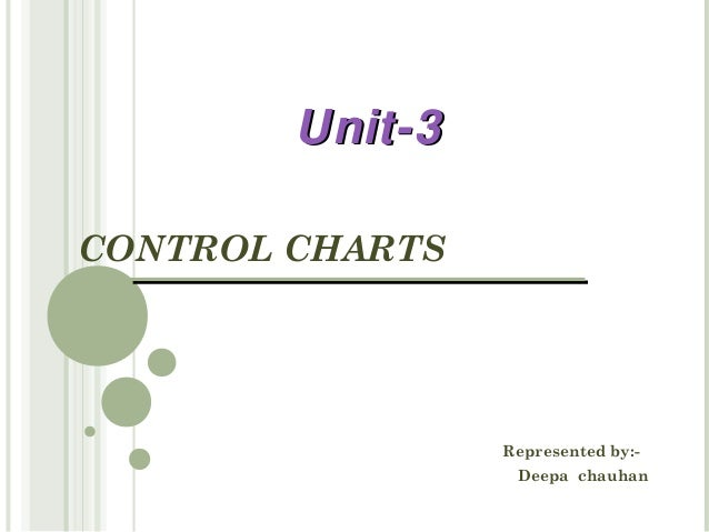 Unit-3CONTROL CHARTS                 Represented by:-                  Deepa chauhan