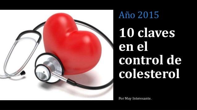 10 claves en el control de colesterol - Estos Pequeños