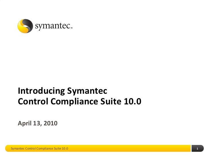 Control Compliance Suite 10