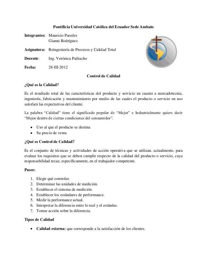 Pontificia Universidad Católica del Ecuador Sede AmbatoIntegrantes: Mauricio Paredes             Gianni RodríguezAsignatur...