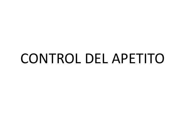 ANATOMIA Y FISIOLOGÍA NOCTURNO: Repaso Control de la Ingesta Hambre - Sed
