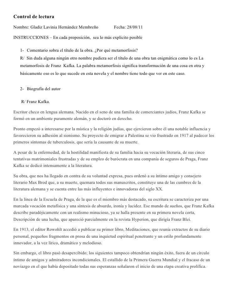 Control de lecturaNombre: Gladiz Lavinia Hernández Membreño               Fecha: 28/08/11INSTRUCCIONES – En cada proposici...