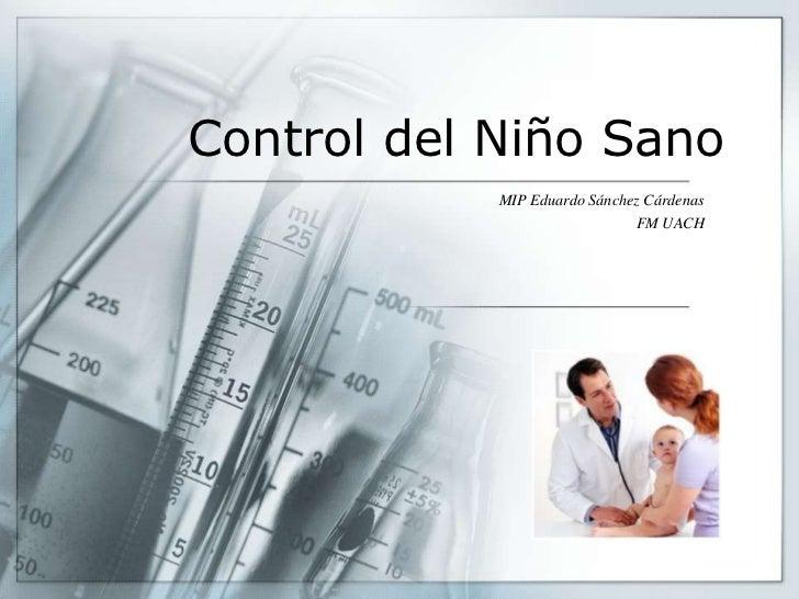 Control del niño sano