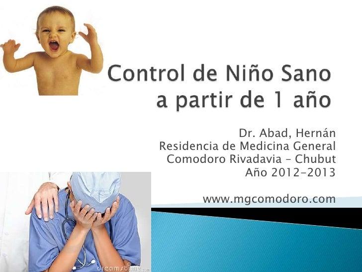 Control de niño sano - 1 año
