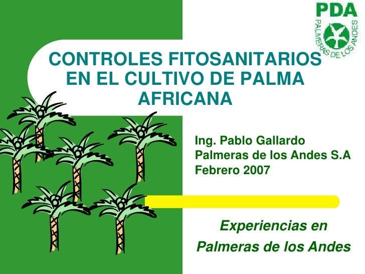 Controles fitosanitarios