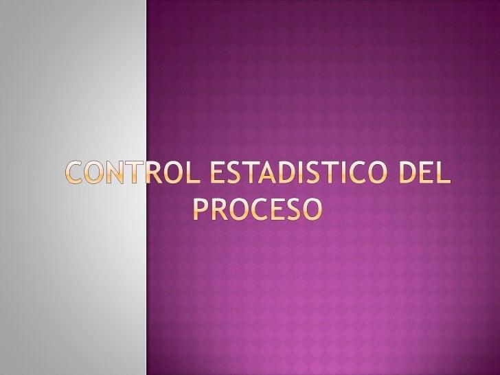 Control estadistico del proceso. spc(teoria)