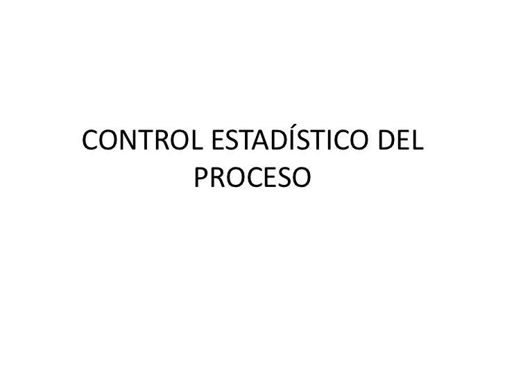 Control estadístico del proceso mata