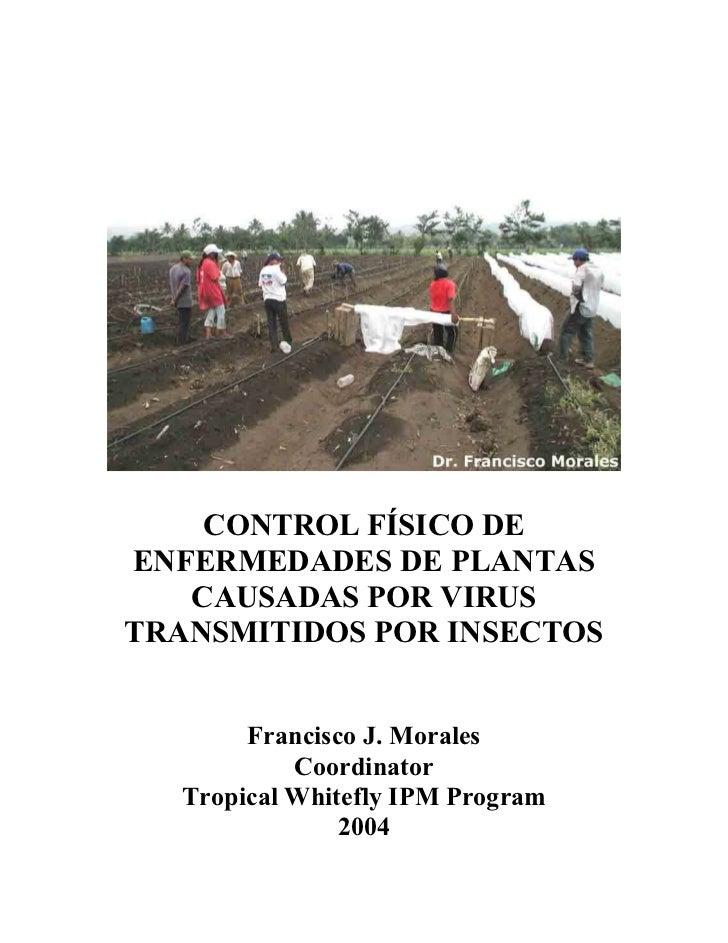 Control fisico enfermedades en las plantas(virus)trasmitidas por vectores plantas